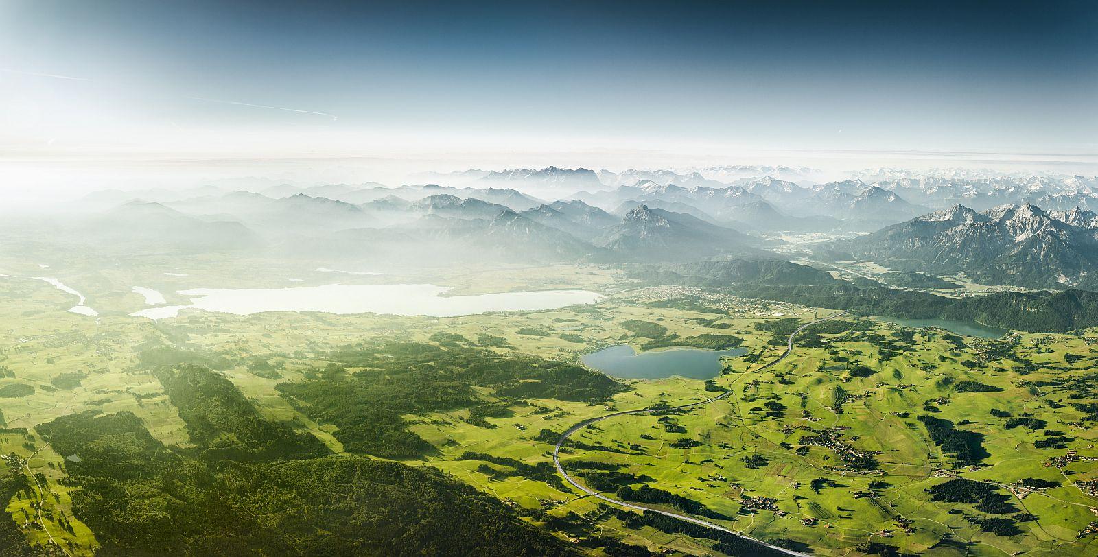 «Краса Баварії». Друге місце в номінації «Зйомка природи з повітря». Фото: Johannes Heuckeroth