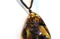 Підвіска з напівдорогоцінним каменем янтарем (фотоогляд) 68cd385235cdd