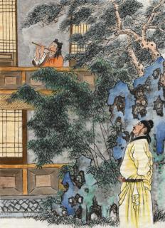 Лі Мо - майстер гри на флейті за часів династії Тан. Ілюстрація: Джейн Ку/Велика Епоха