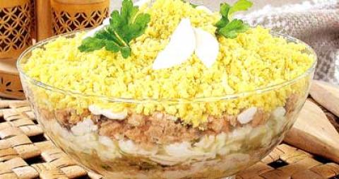 салат мімоза