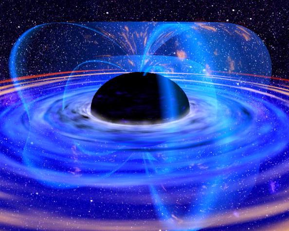 Фото 2. Чёрные дыры: диск горячей плазмы вокруг коллапсара. Фото: ESA/Getty Images