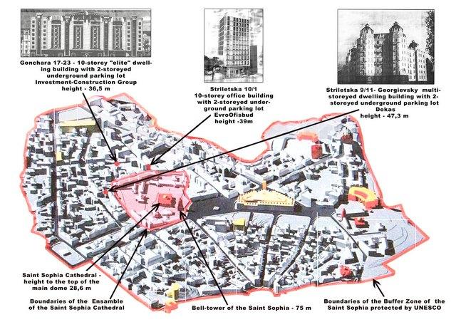 Карта застройки буферной зоны