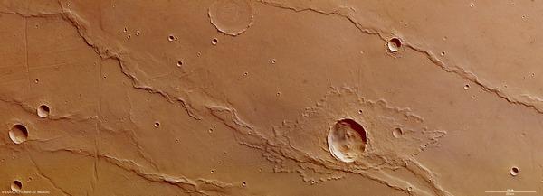 Фотографии космоса. Была ли вода на Марсе? Фото: ESA/DLR/FU Berlin (G. Neukum)