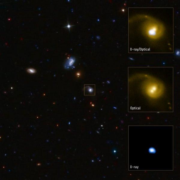 Фотографии космоса. CID-42 — галактика с необычной структурой. Фото: nasa.gov