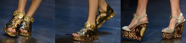 Обувь от Dolce & Gabbana. Фото: OLIVIER MORIN/AFP/Getty Images