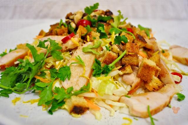 рецепты салатов с китайской капустой и курицей