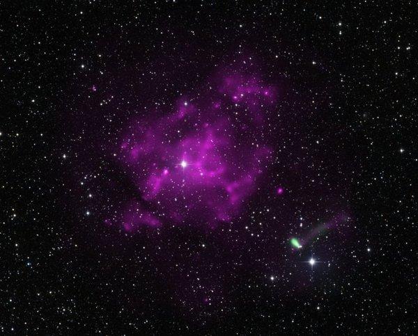 Фотографии космоса. Сверхновая и самый «шустрый» пульсар. Фото: nasa.gov