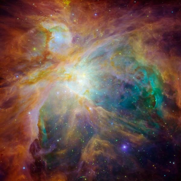 Фотографии космоса. Хаос в туманности Ориона.