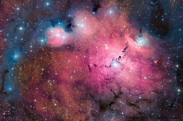 Фотографии космоса. Simeis 188 в окружении звёзд, пыли и газа. Фото: Dieter Willasch/astro-cabinet.com