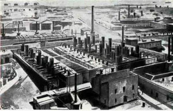 Нефтеперегонный завод Нобелей в Баку, конец 1880 гг. Фото: commons.wikimedia.org
