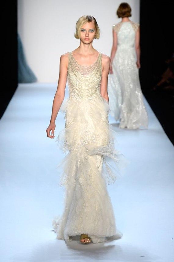 Тиждень моди у Нью Йорку. Бренд Badgley Mischka представив свої весільні сукні. Фото: Frazer Harrison/Getty Images