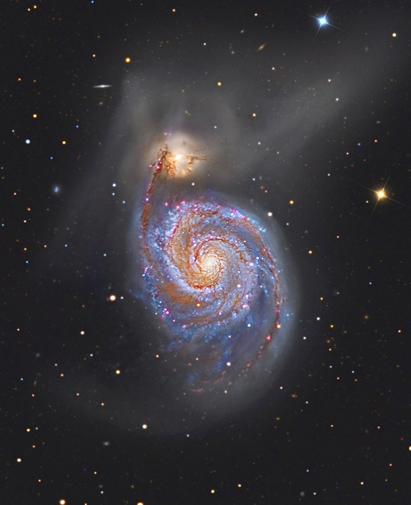 Фотографии космоса. M51 — галактика «Водоворот».
