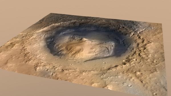 Фотографии космоса. Кратер Гейла и гора Шарп на Марсе — объект исследования марсохода Curiosity.