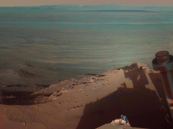 Фотографии космоса. Марсианский кратер Индевор.