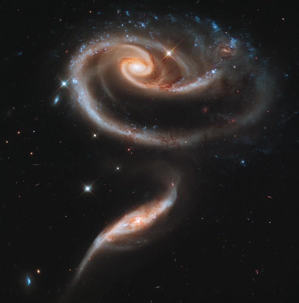Фотографии космоса: галактическая роза. Фото: ESA/Hubble