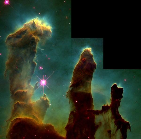 Фотографии космоса: «Столпы Творения». Фото: ESA/Hubble