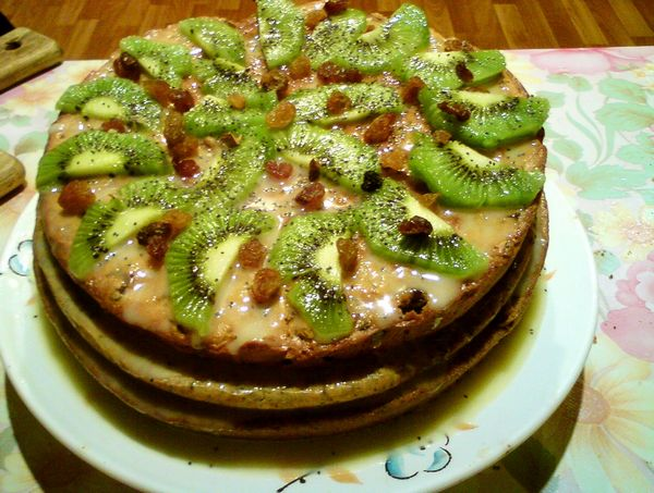 Аппетитный и эксклюзивный торт «Наташа» с фруктами. Фото: Рубина Ярченко/Великая Эпоха