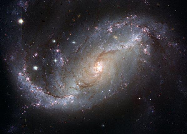 Фотографии космоса. Спиральная галактика NGC 1672.