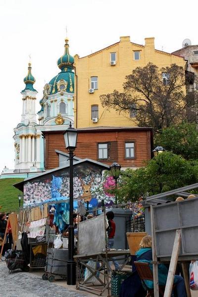Достопримечательности Киева: Андреевский спуск. Фото: 777-konstantin.blogspot.com
