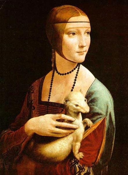 Эпоха возрождения дама с горностаем