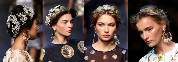 Украшения от Dolce & Gabbana. Фото: Vittorio Zunino Celotto/Getty Images