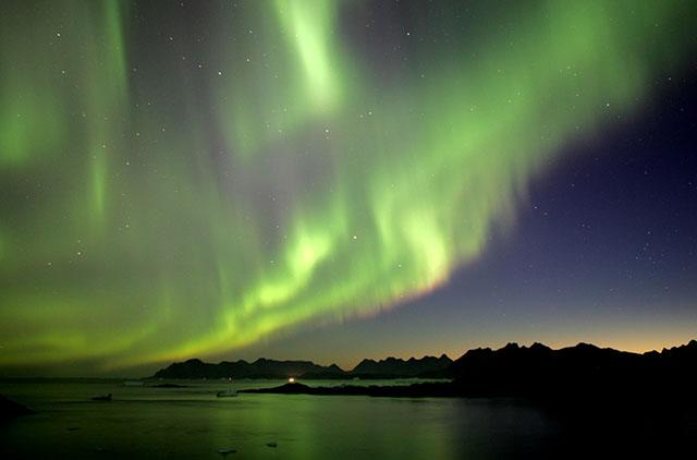 Северное сияние — частое явление в Гренландии.