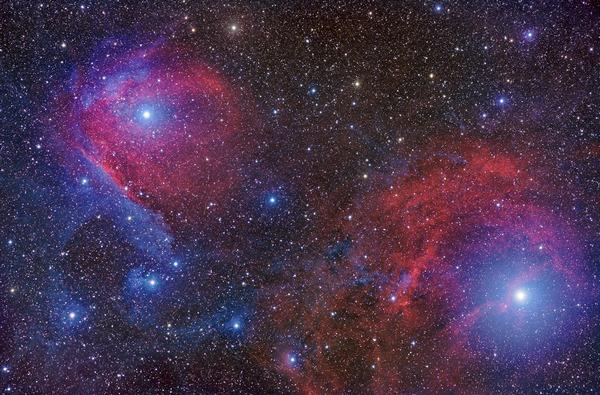 Фотографии космоса. Пылевые туманности в созвездии Скорпиона.